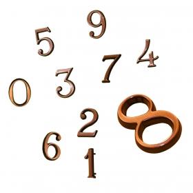 Цифры из бронзы